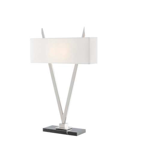 Currey and Company Willemstad Table Lamp, Silver