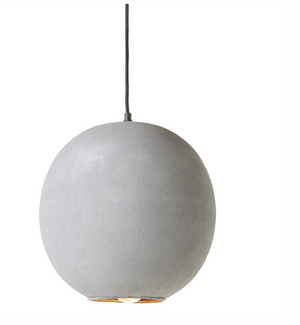 Concrete Pendant Light by Bobo Intriguing Objects