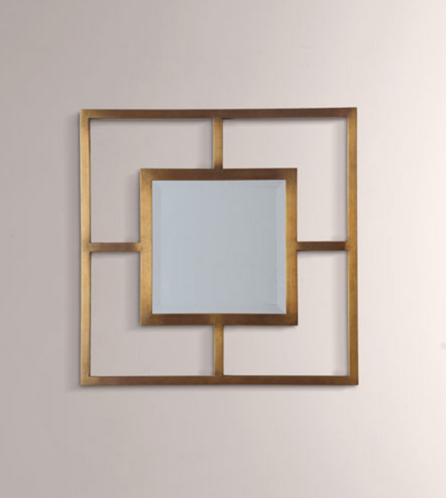 Port 68 Cairo Brass Open Frame Mirror