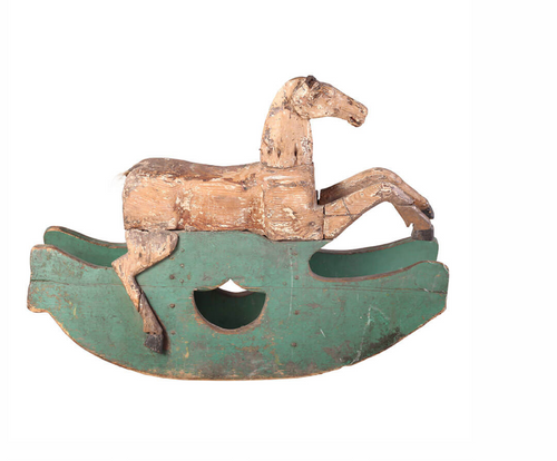 18th Century Antique Rocking Horse Bobo Intriguing Objects