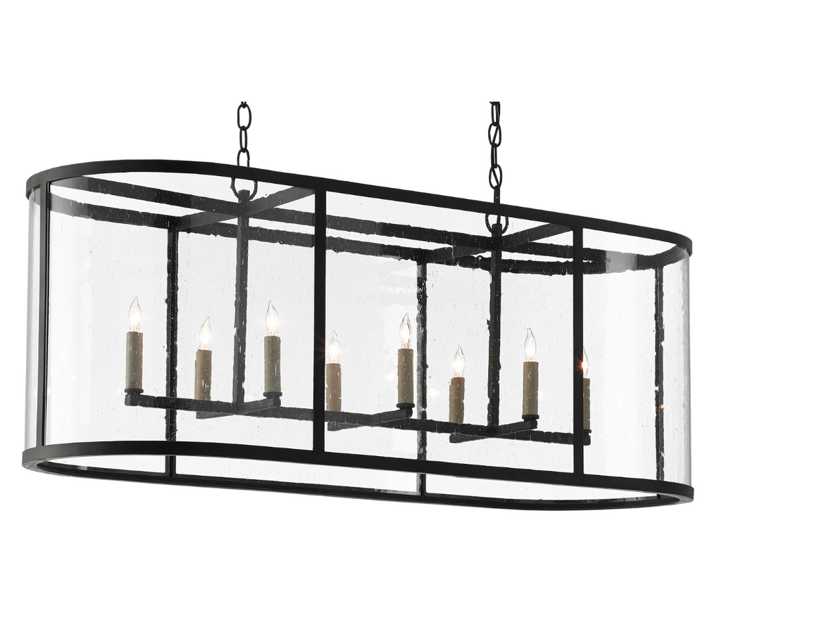 Currey and Company Argand Oval Chandelier