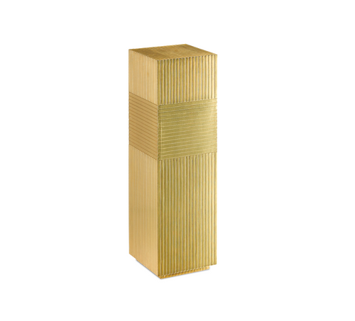 Odense Brass Pedestal Table by Currey and Company