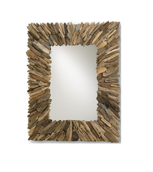 Beachhead Driftwood Mirror by Currey and Company