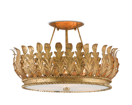 Biddulph Semi Flush Light by Bunny Williams for Currey and Company