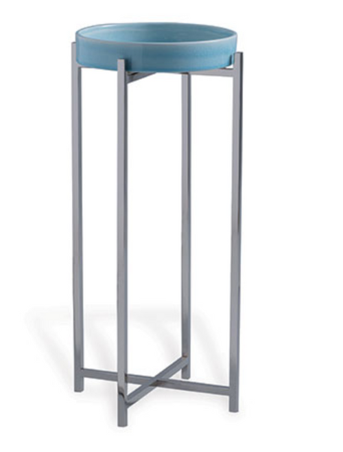 Port 68 Jody Accent Table in Sky Blue