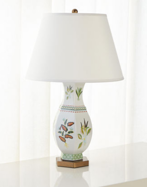 Port 68 Botanical Palm Lamp in Green