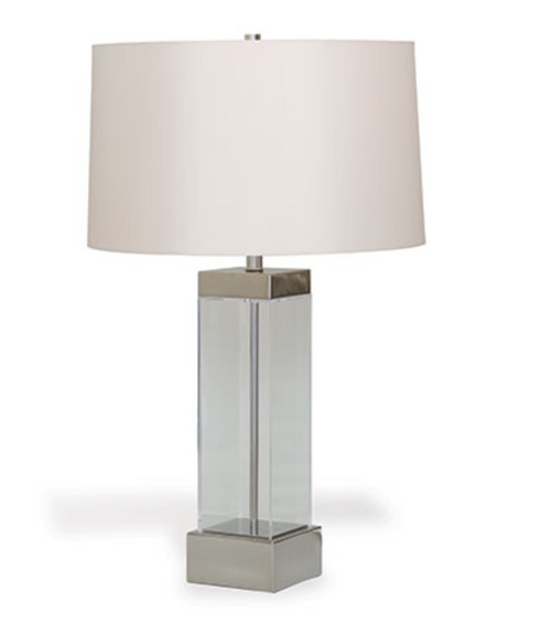 Port 68 Miami Lucite Table Lamp, Nickel