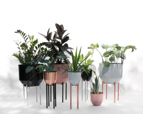 "Yield Design 8"" Copper Spun Planter"