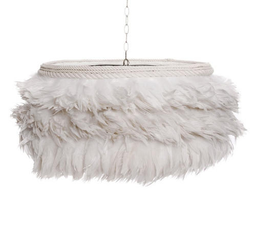 Jamie Dietrich Designs White Feather Pendant Light