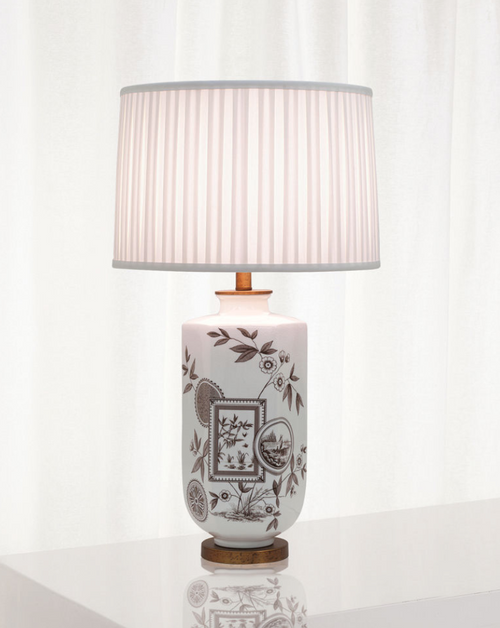 Port 68 Temba Table Lamp in Blue and White