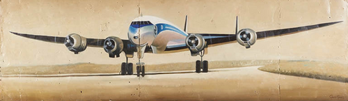 Lockheed Constellation' by Roland Renaud - Reclaimed Metal Art