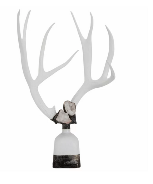 Double Large Geode Antler Decorative Bottle by Jamie Dietrich Designs