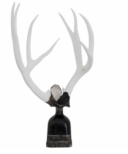Double Large Tourmaline Antler Decorative Bottle  by Jamie Dietrich Designs
