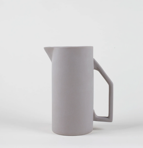 Yield Design Ceramic Water Pitcher, Gray 850 ML