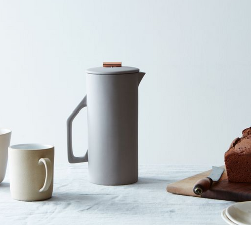 Yield Design Ceramic French Press, Gray 850 ML