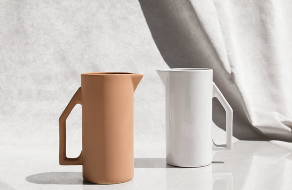 Yield Design Ceramic Water Pitcher, Sand 850 ML