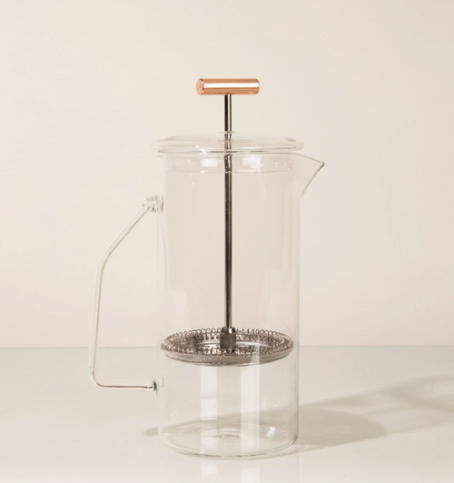 Yield Design Glass French Press, Clear 850 ML