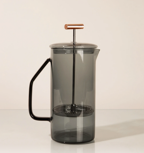 Yield Design Glass French Press, Gray 850 ML