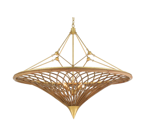 Gaborone Chandelier by Currey and Company