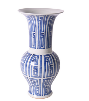 Blue And White Siam Symbol Ballaster Vase 1647 By Legend Of Asia