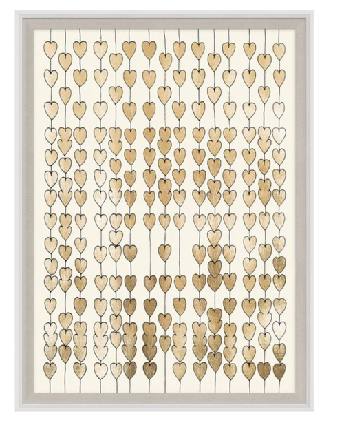 Cartier Heart Strings Gold Leaf Artwork by Natural Curiosities