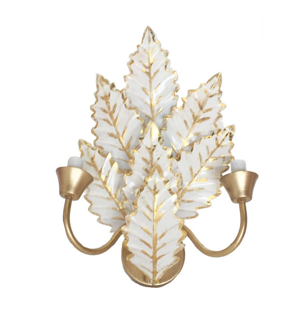 Dana Gibson Margot Wall Sconce in White