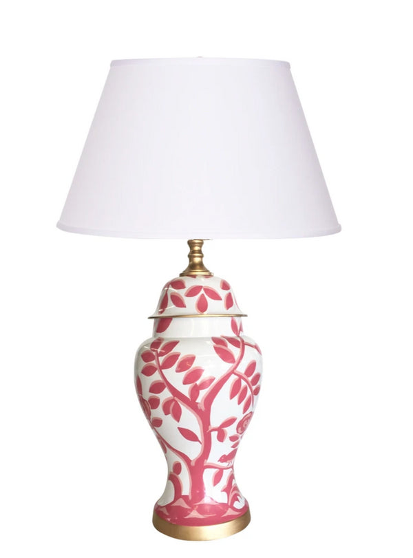 "Dana Gibson Cliveden 30"" Table Lamp in Pink"