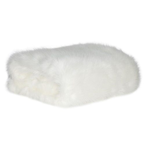 Pearl Shag Fur Throw by Square Feather