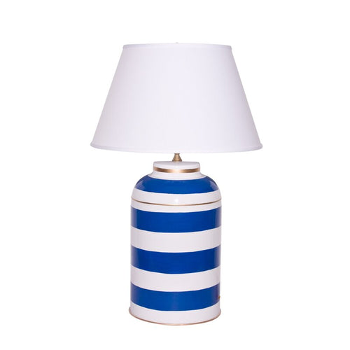 Dana Gibson Striped Tea Caddy Lamp, Large