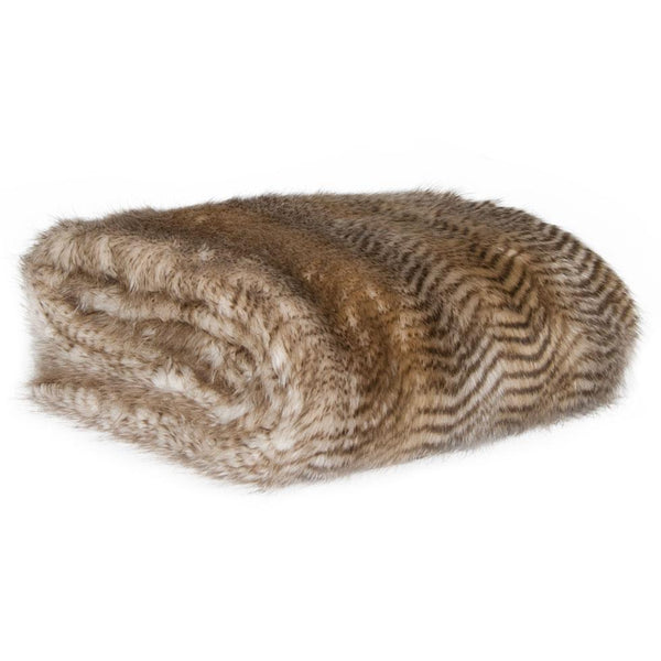Striped Feline Fur Throw by Square Feather