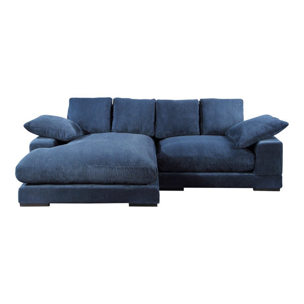 Moes Plunge Sectional Navy
