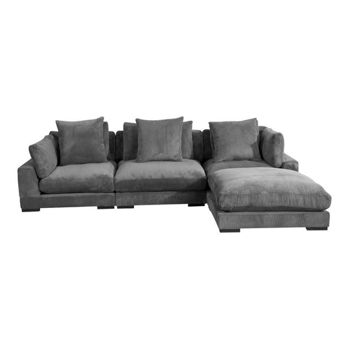 Moes Tumble Lounge Modular Sectional Charcoal