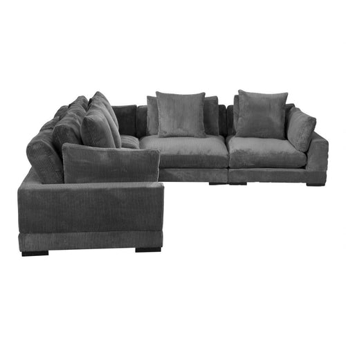Moes Tumble Classic L Modular Sectional Charcoal