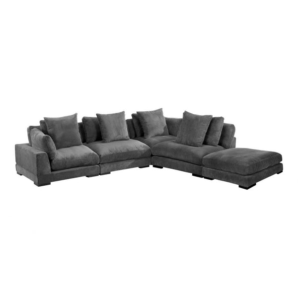 Moes Tumble Dream Modular Sectional Charcoal