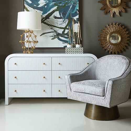 Worlds Away Valentina White Dresser