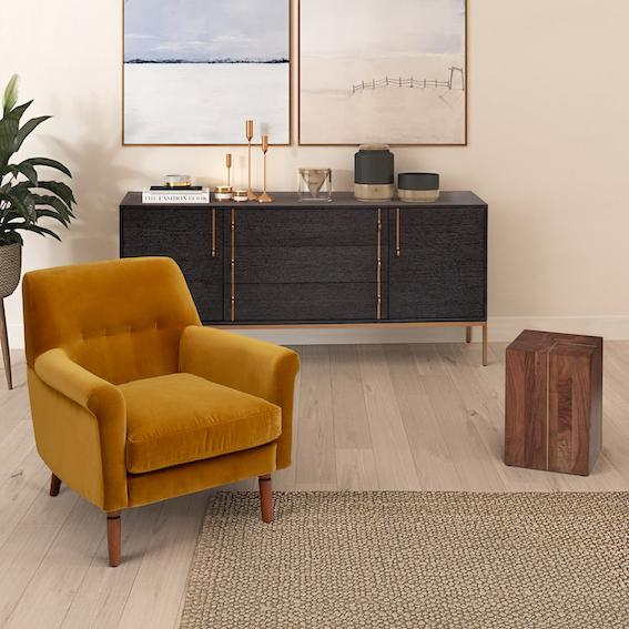 Urbia Emelia Gold Accent Chair