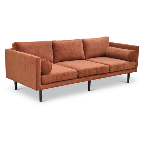 Harrison Sofa by Urbia in Terracotta
