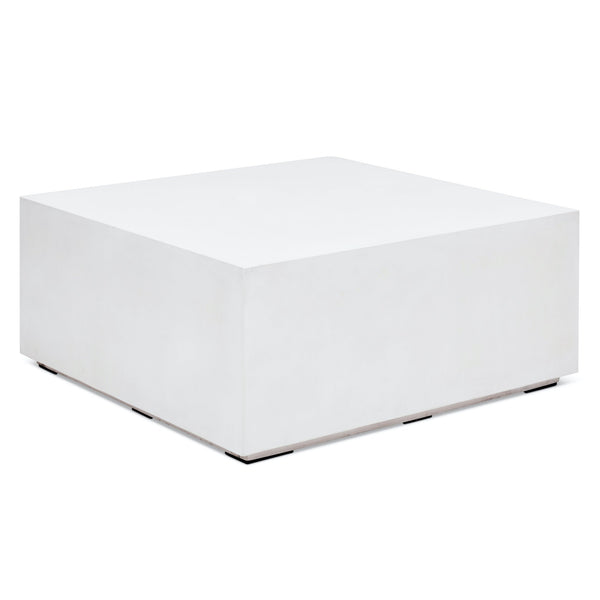 Bloc Square Coffee Table in Ivory White by Urbia