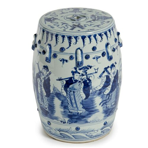 Eight-Immortals Garden Stool, Navy by Legends of Asia
