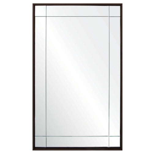 Barclay Butera Nine Panel Floating Landon Mirror in Walnut