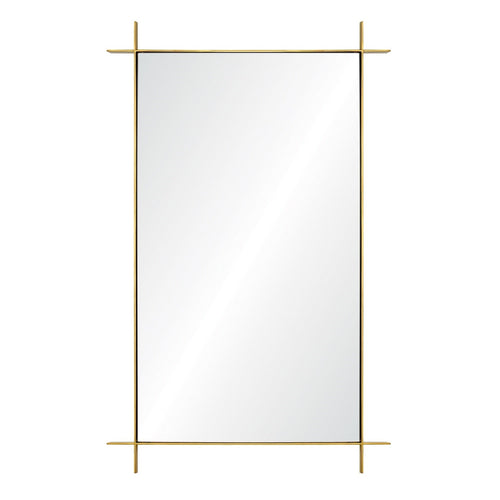 Rectangular Burnished Brass Mirror by Barclay Butera for Mirror Image Home