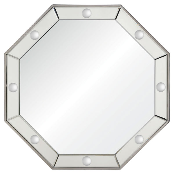 Octavia Octagonal Wall Mirror in Stainless Steel by Bunny Williams
