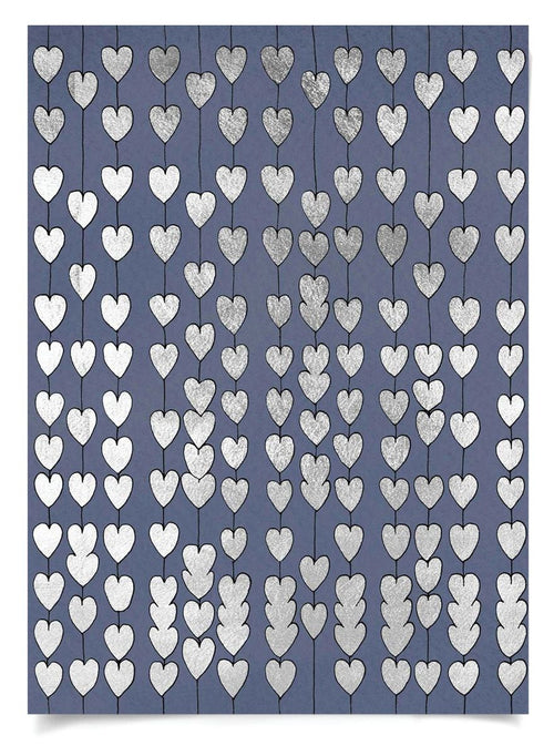Natural Curiosities Navy and Silver Cartier Heart Strings
