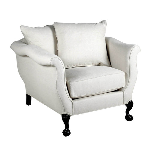 Greyson Chair by Bobo Intriguing Objects; White Linen