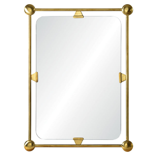 Celerie Kemble for Mirror Image Home Bunished Brass Wall Mirror, Burnished Brass