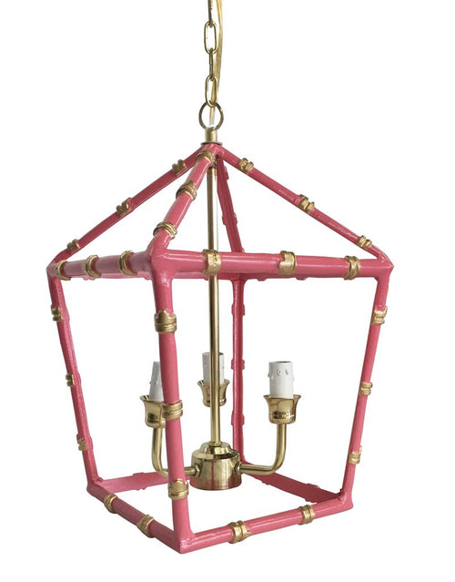 Dana Gibson Bamboo Lantern Light in Pink