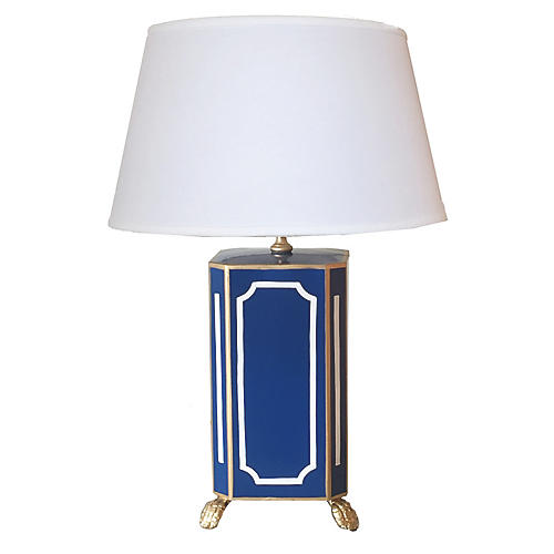 Dana Gibson Devon Lamp in Blue