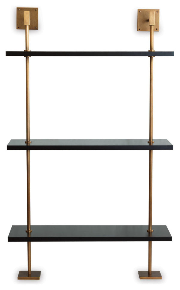 Port 68 Marais Black and Brass Shelf