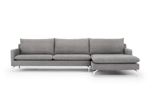 Urbia Anderson Sectional in Dark Grey