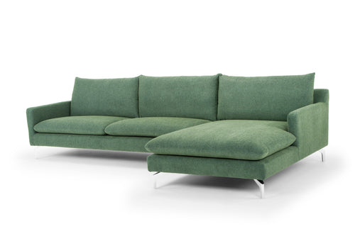 Urbia Anderson Sectional in Dark Green